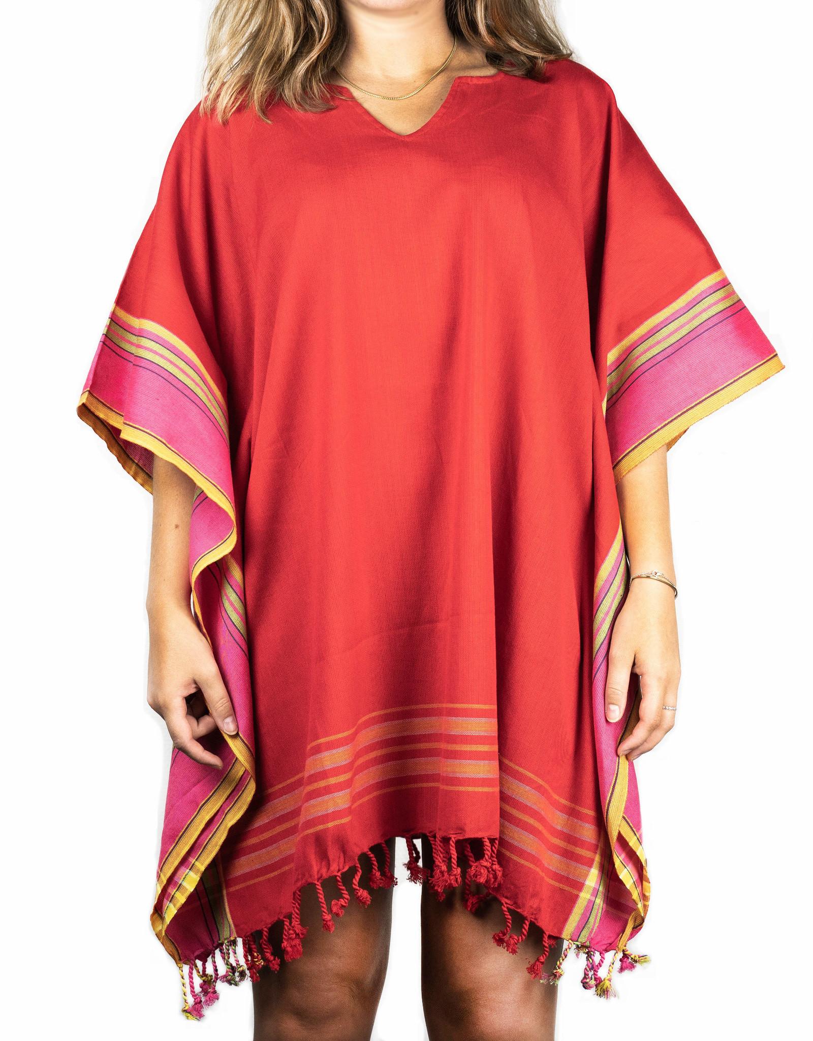 Maisha.Style Kikoy dress - red