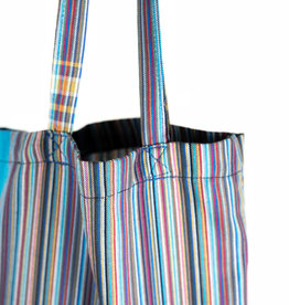 Maisha.Style Kikoy tote bag - stripey blue