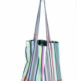 Maisha.Style Kikoy tote bag - stripey turquoise