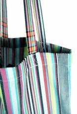 Maisha.Style Kikoy tote bag - stripey mixed turquoise