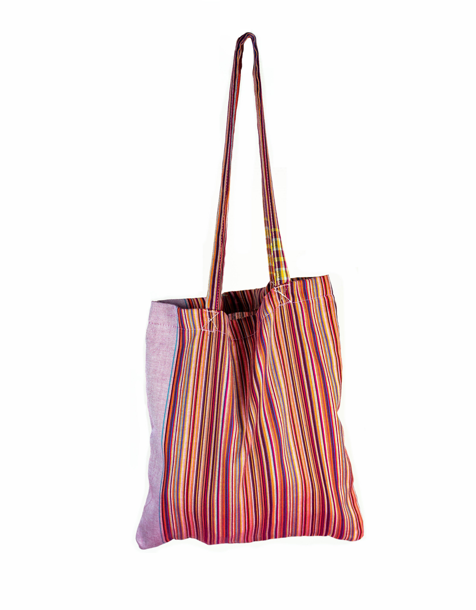 Maisha.Style Kikoy Tote bag - stripey mixed red