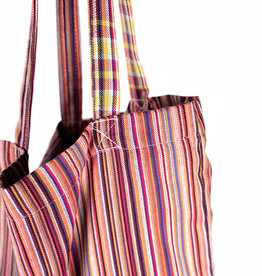Maisha.Style Kikoy tote bag - stripey red