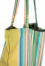 Maisha.Style Kikoy Tote bag - stripey mixed green