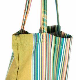 Maisha.Style Kikoy tote bag - stripey green