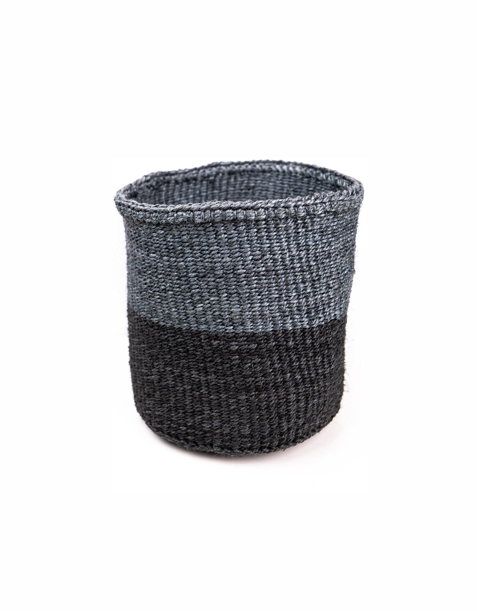 Maisha.Style Taita basket - mouse grey & black - M4