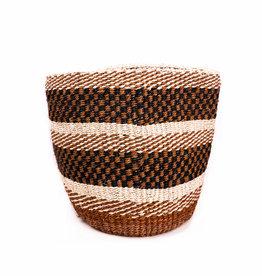 Maisha.Style Taita basket - rusty ivory black mix pattern