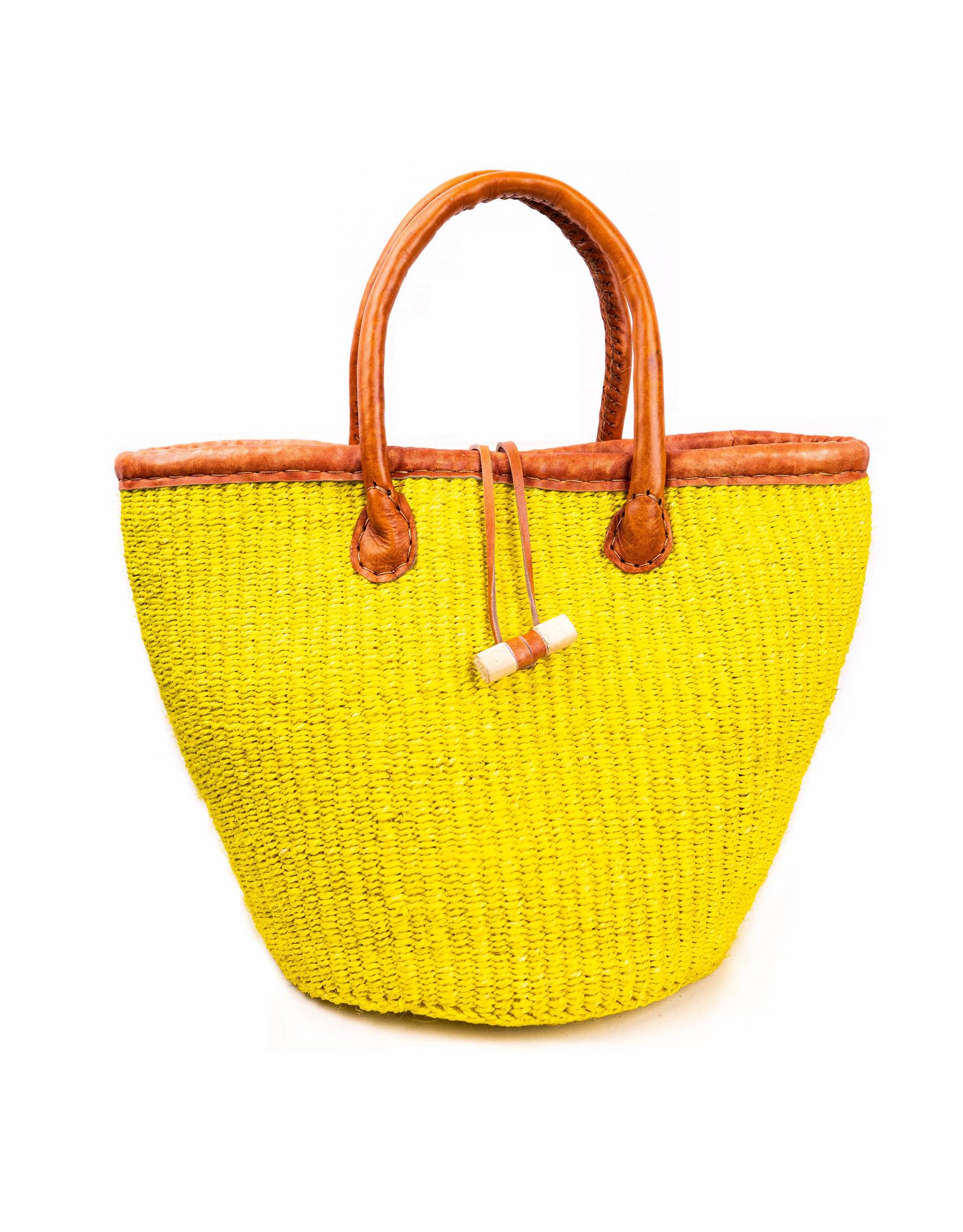 Maisha.Style Taita handbasket - happy yellow
