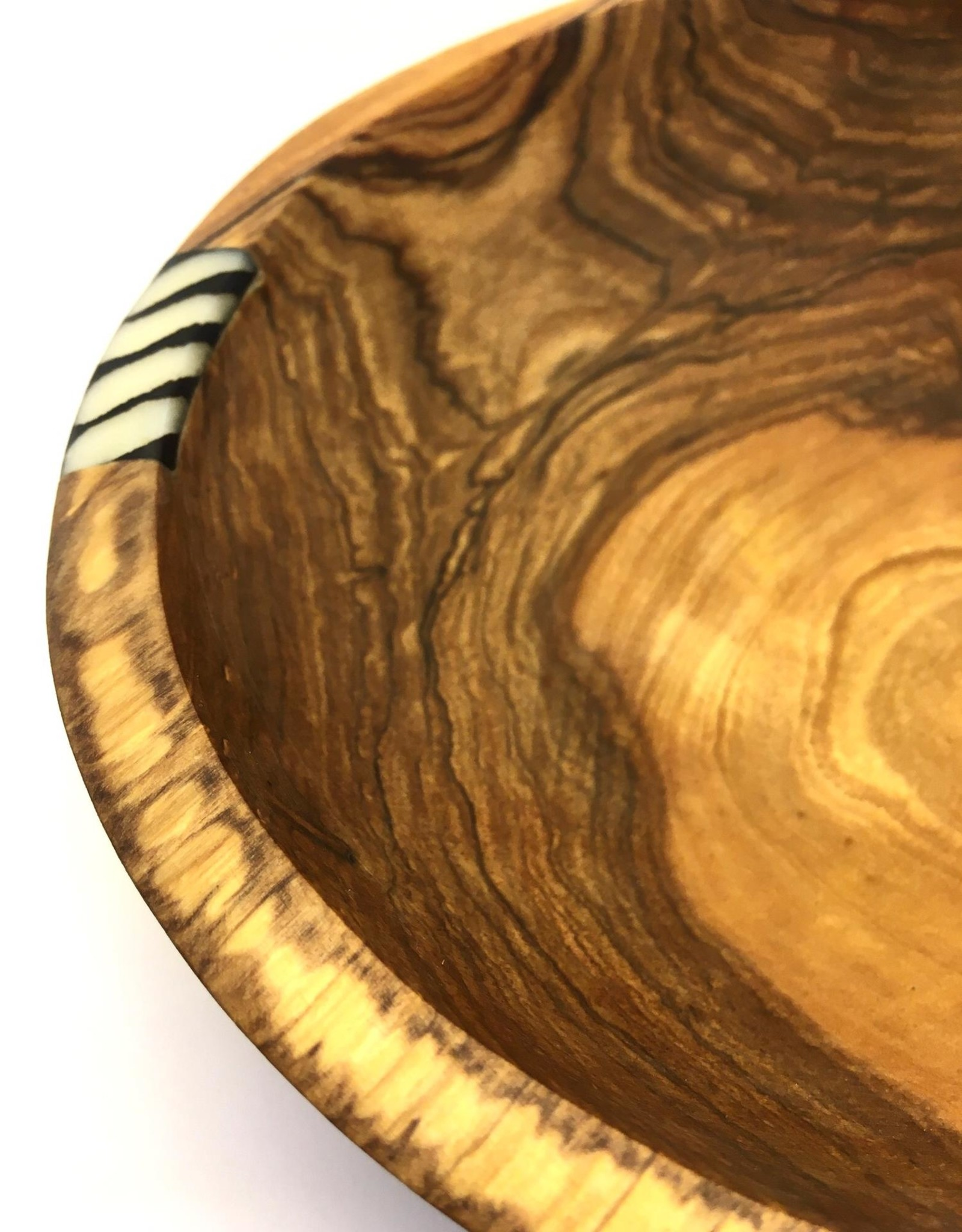 Maisha.Style Wooden bowl - with horn batik