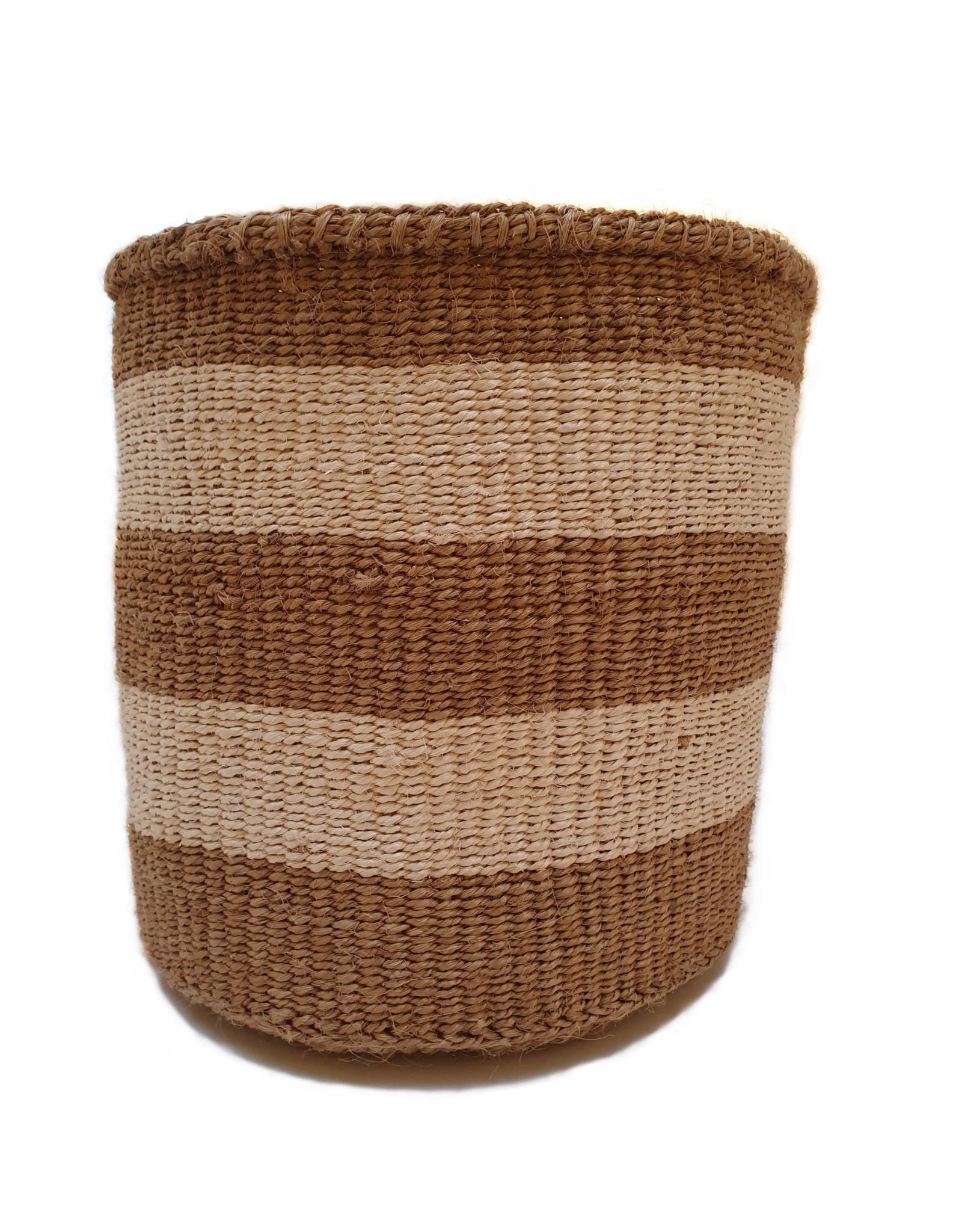 Maisha.Style Taita basket - ivory & reed stripes - M/L5