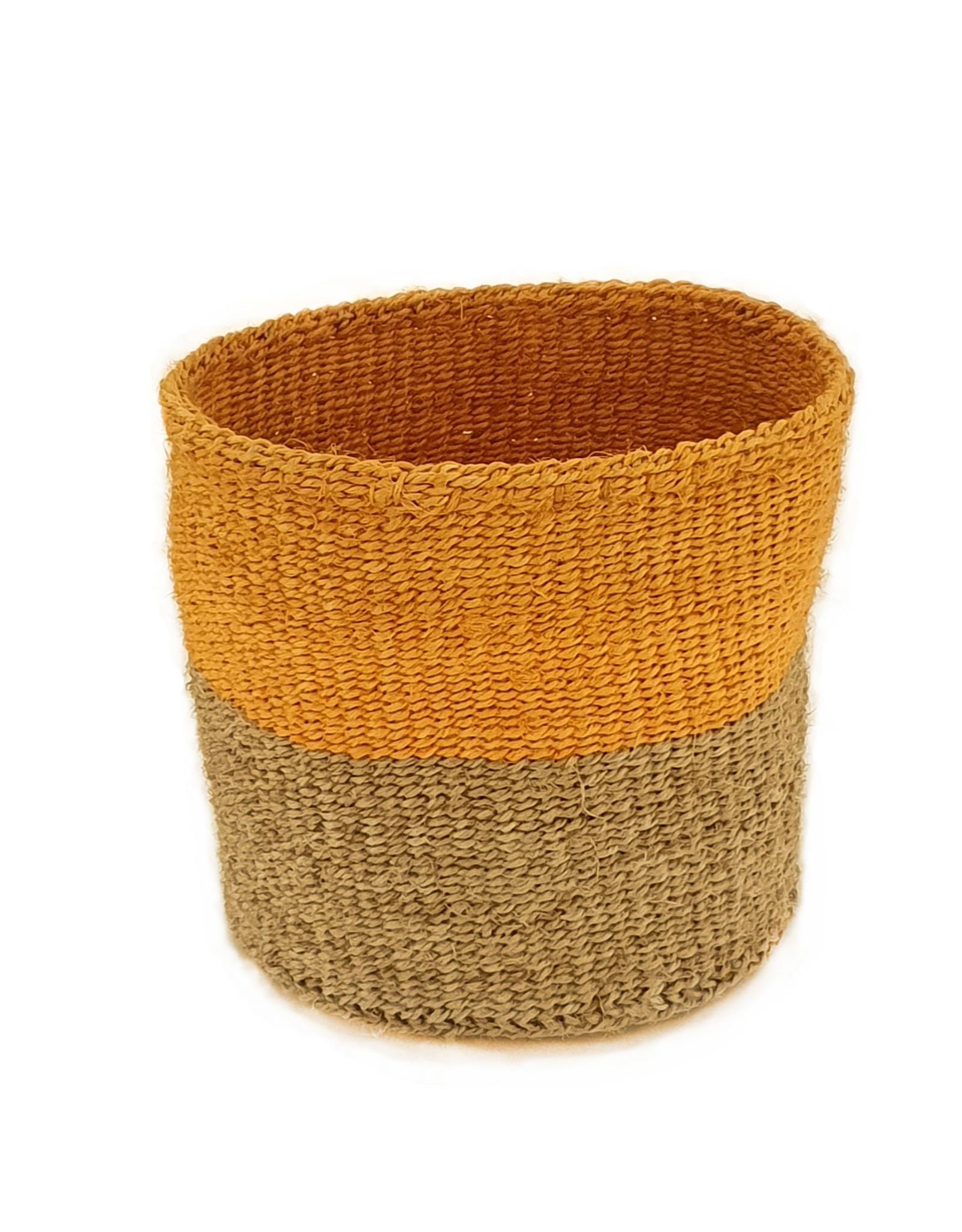 Maisha.Style Taita basket - reed & orange - M3