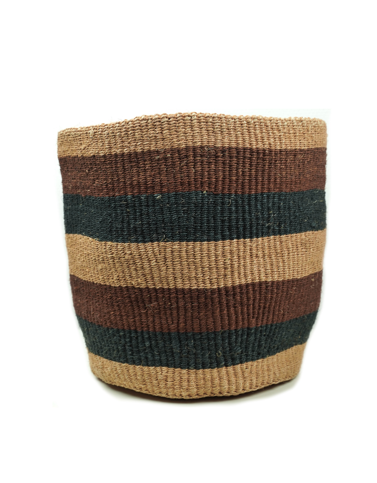 Maisha.Style Taita basket - reed brown black stripes - L1