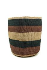 Maisha.Style Taita basket - reed brown black stripes - L2