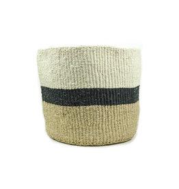Maisha.Style Taita basket - ivory reed black - L3