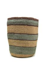 Maisha.Style Taita basket - reed grey brown stripes - L4