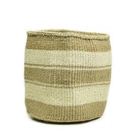 Maisha.Style Taita basket - reed & ivory stripes - M/L1