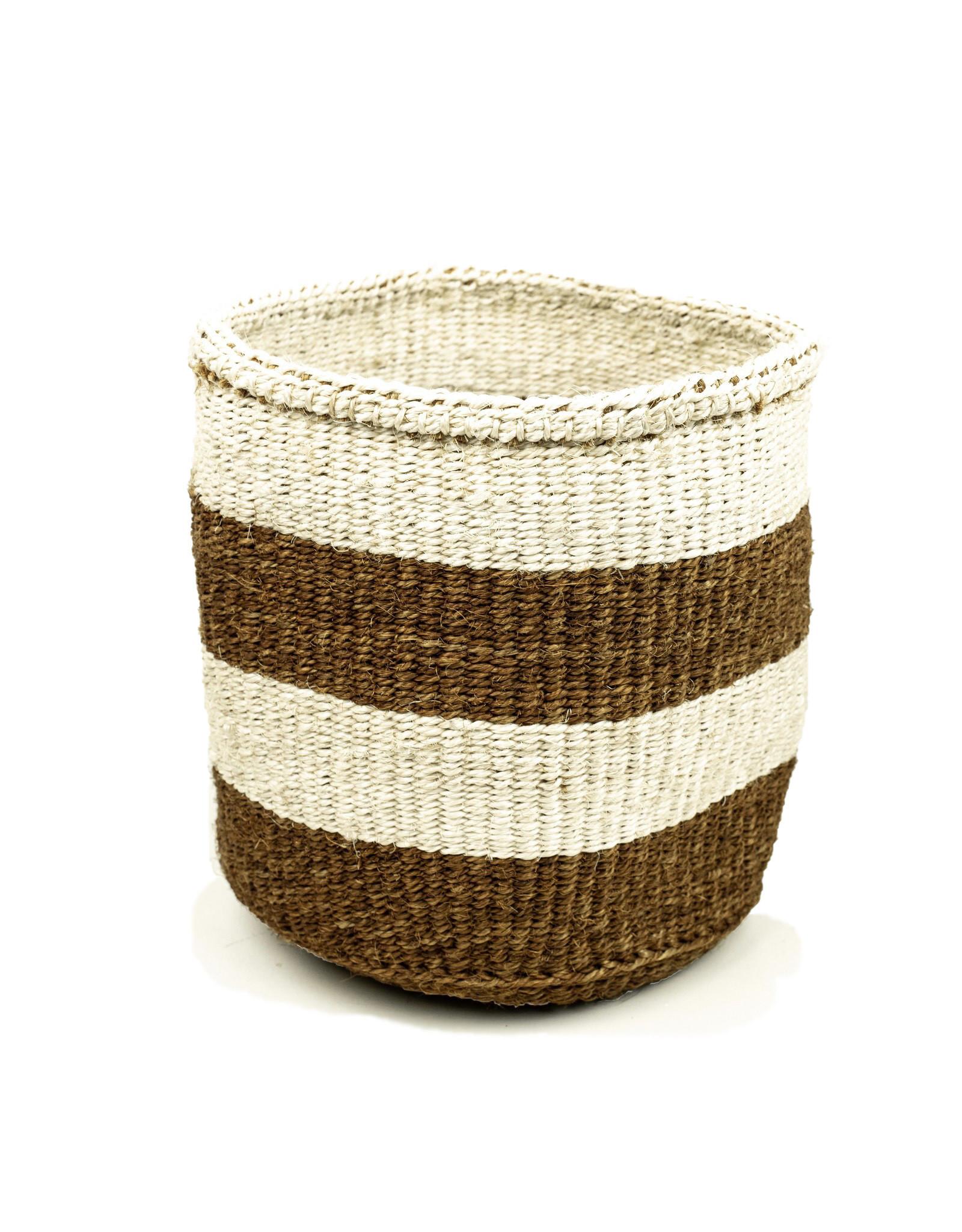 Maisha.Style Taita basket - reed & ivory stripes - M1