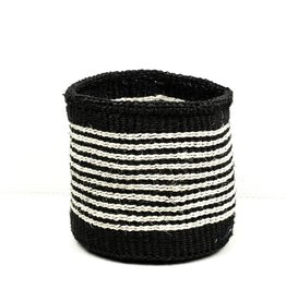 Maisha.Style Taita basket - black & thin ivory stripes - S2