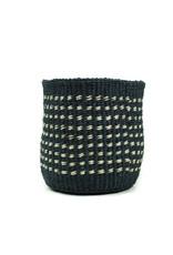 Maisha.Style Taita basket - dark marine & ivory - S6