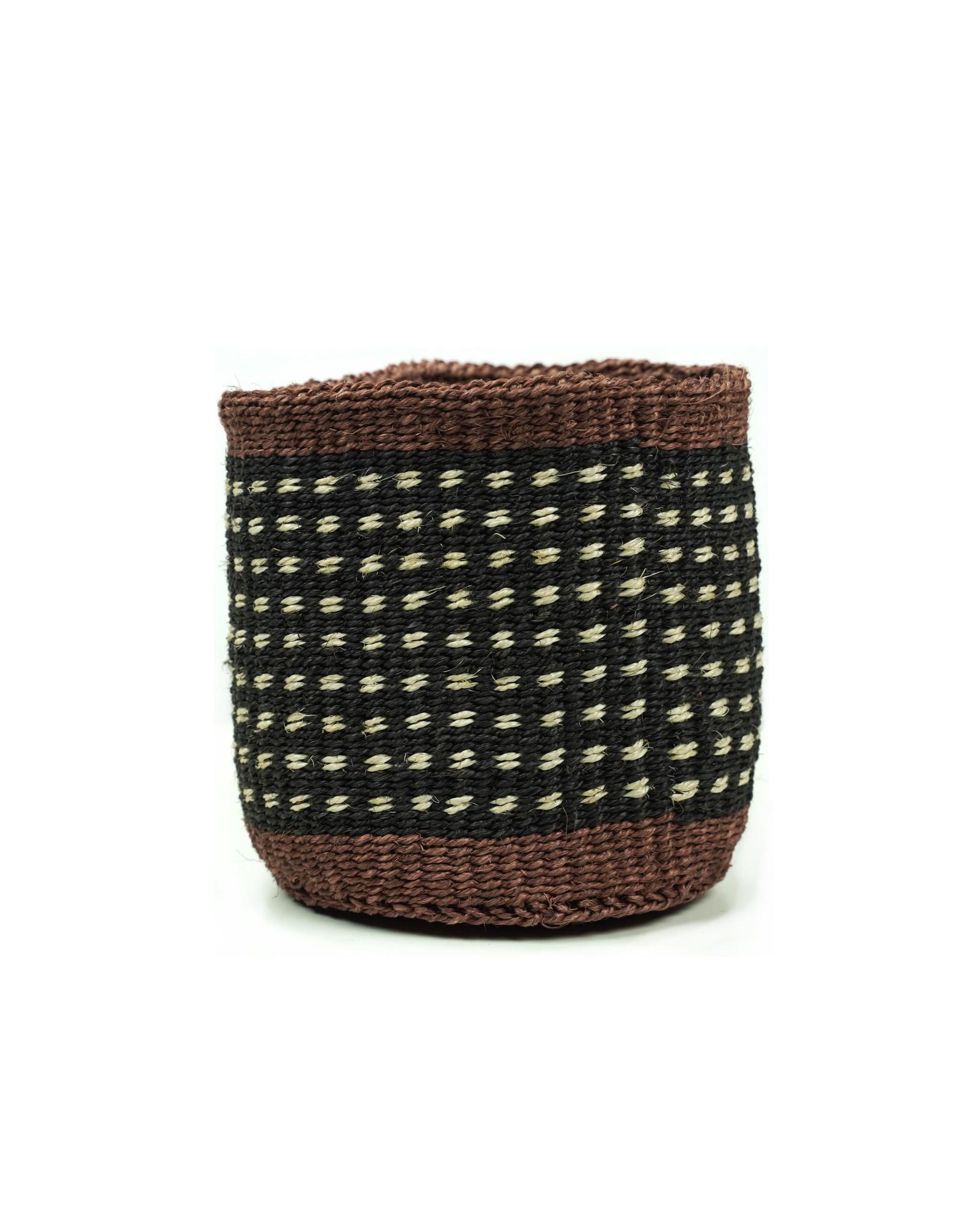 Maisha.Style Taita basket - black brown & ivory - S7