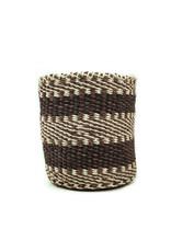 Maisha.Style Taita basket - black brown & ivory - S9