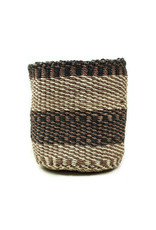 Maisha.Style Taita basket - black brown & ivory - S10