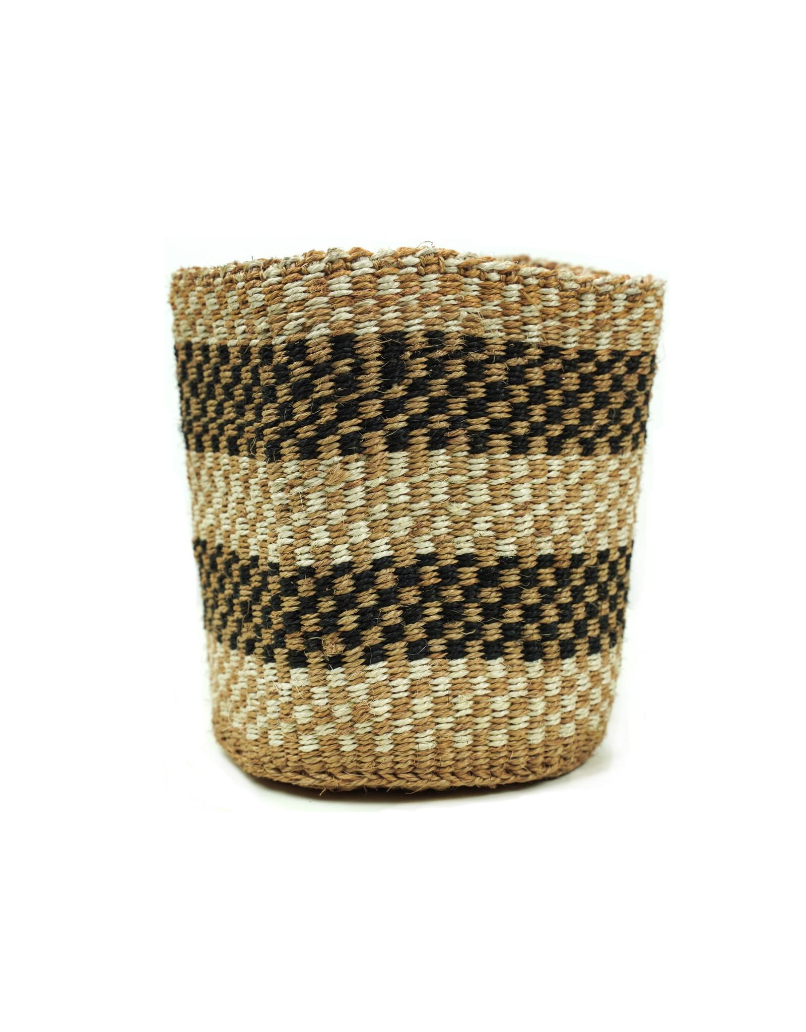Maisha.Style Taita basket - black reed & ivory - S14