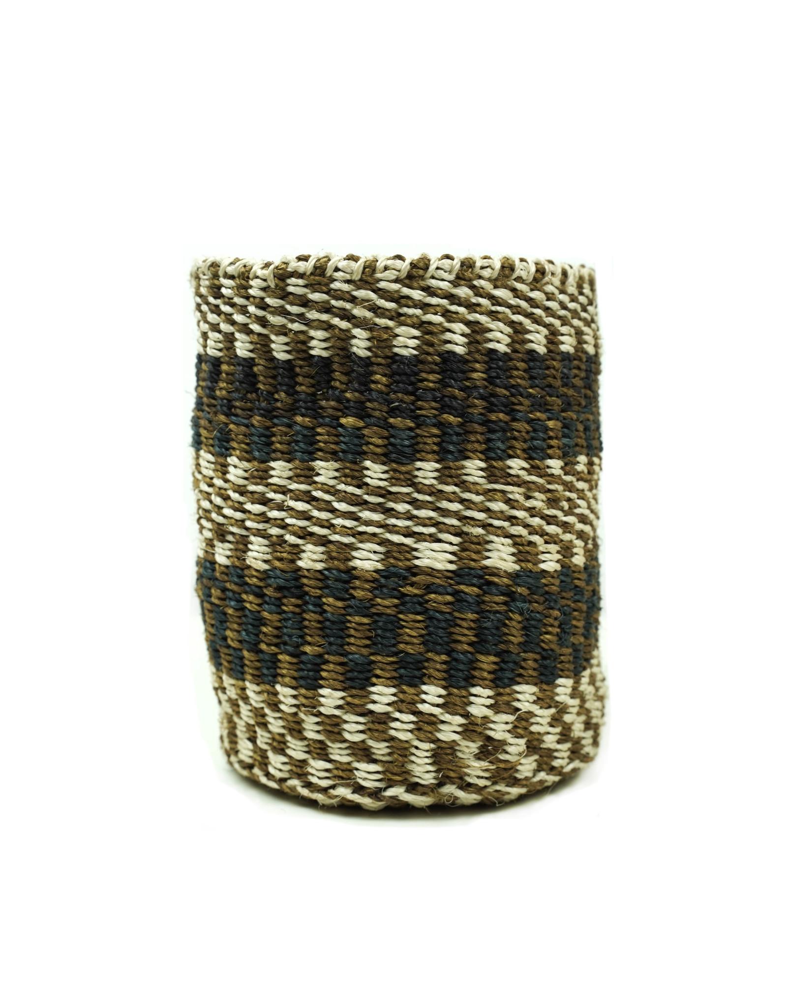 Maisha.Style Taita basket - black brown & ivory - S15