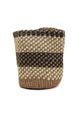 Maisha.Style Taita basket - black brown & ivory - S16