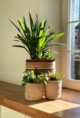 Maisha.Style Taita basket - reed grey brown stripes - L5