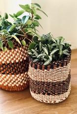 Maisha.Style Taita basket - black brown & ivory - S12