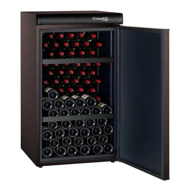 Climadiff CLV122M wijnbewaarkast - 1 zone - 120 flessen