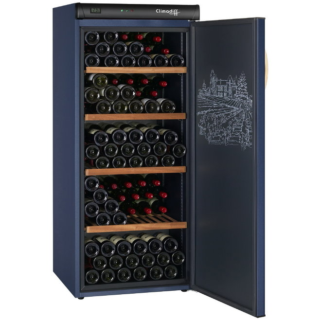 Climadiff CVP180 wijnbewaarkast - 1 zone - 180 flessen