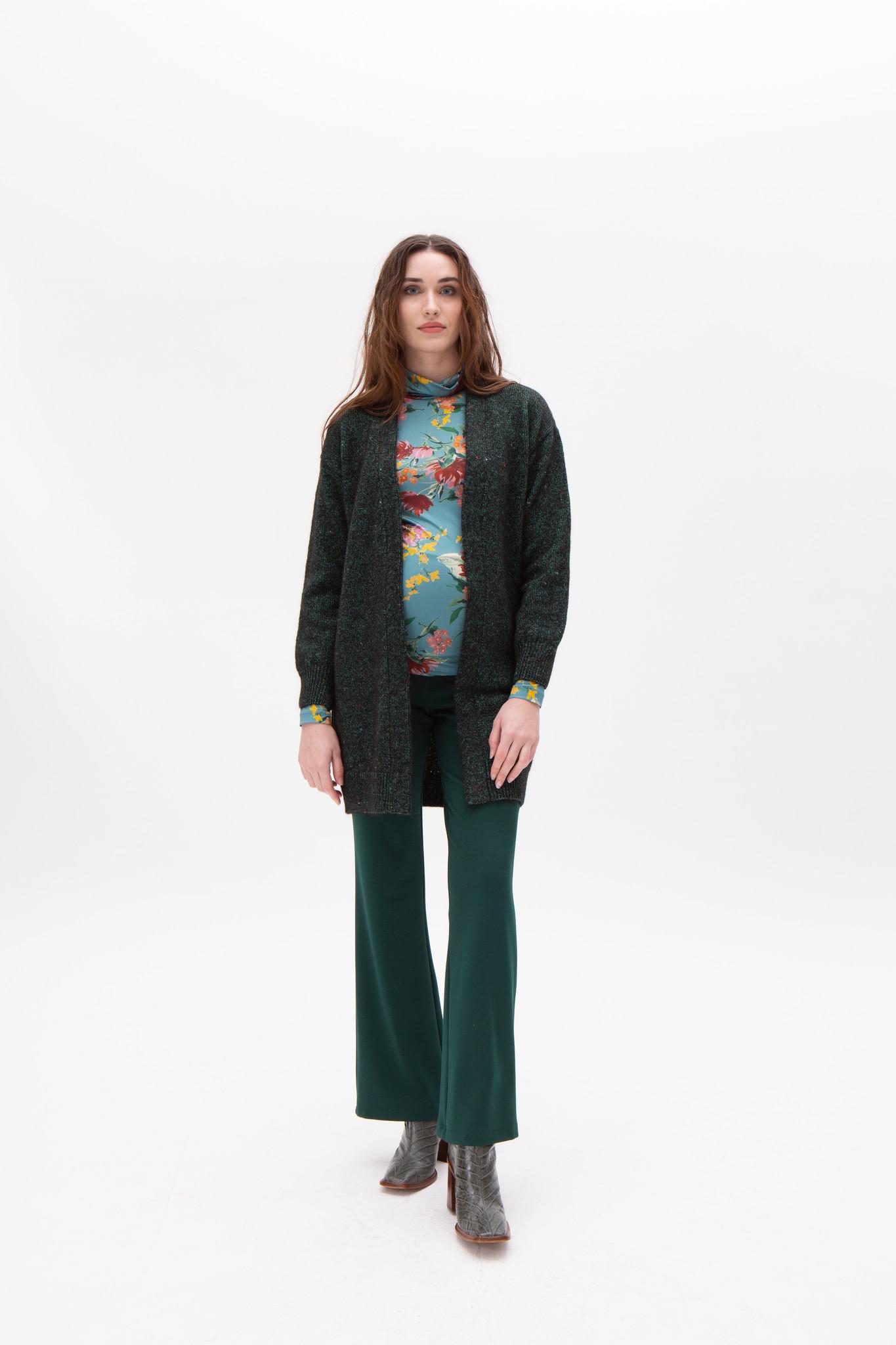 Seventies trousers - dark green-1