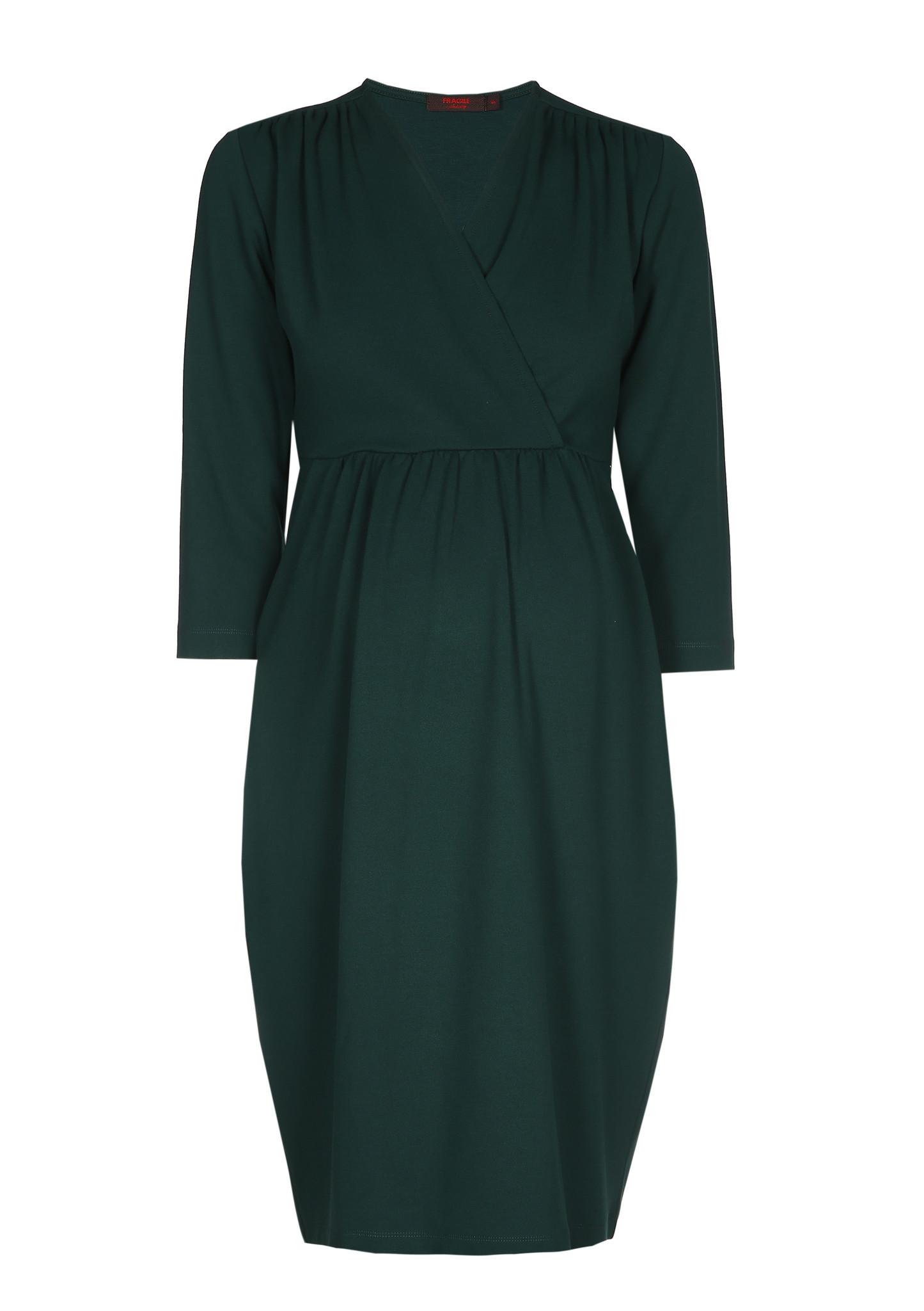 Comfy dress 7/8 sleeves - dark green-4