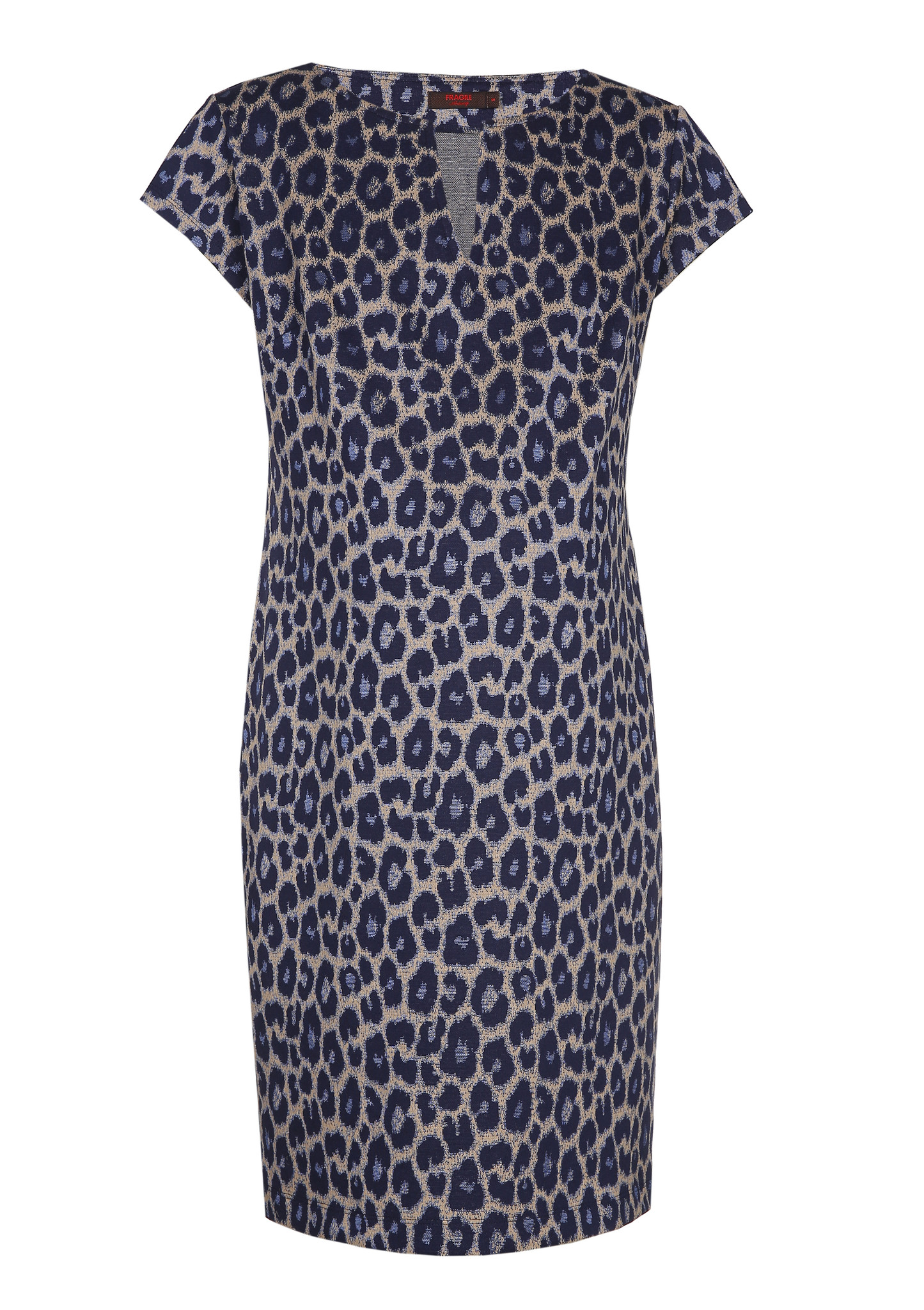 Slim tunic short sleeves - navy animal-2