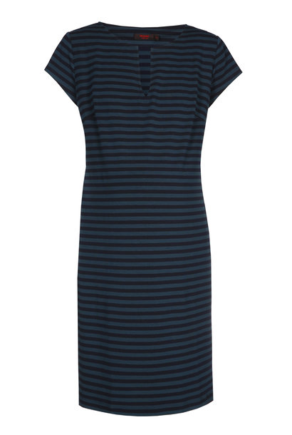 Slim tunic short sleeves - Petrol/Navy