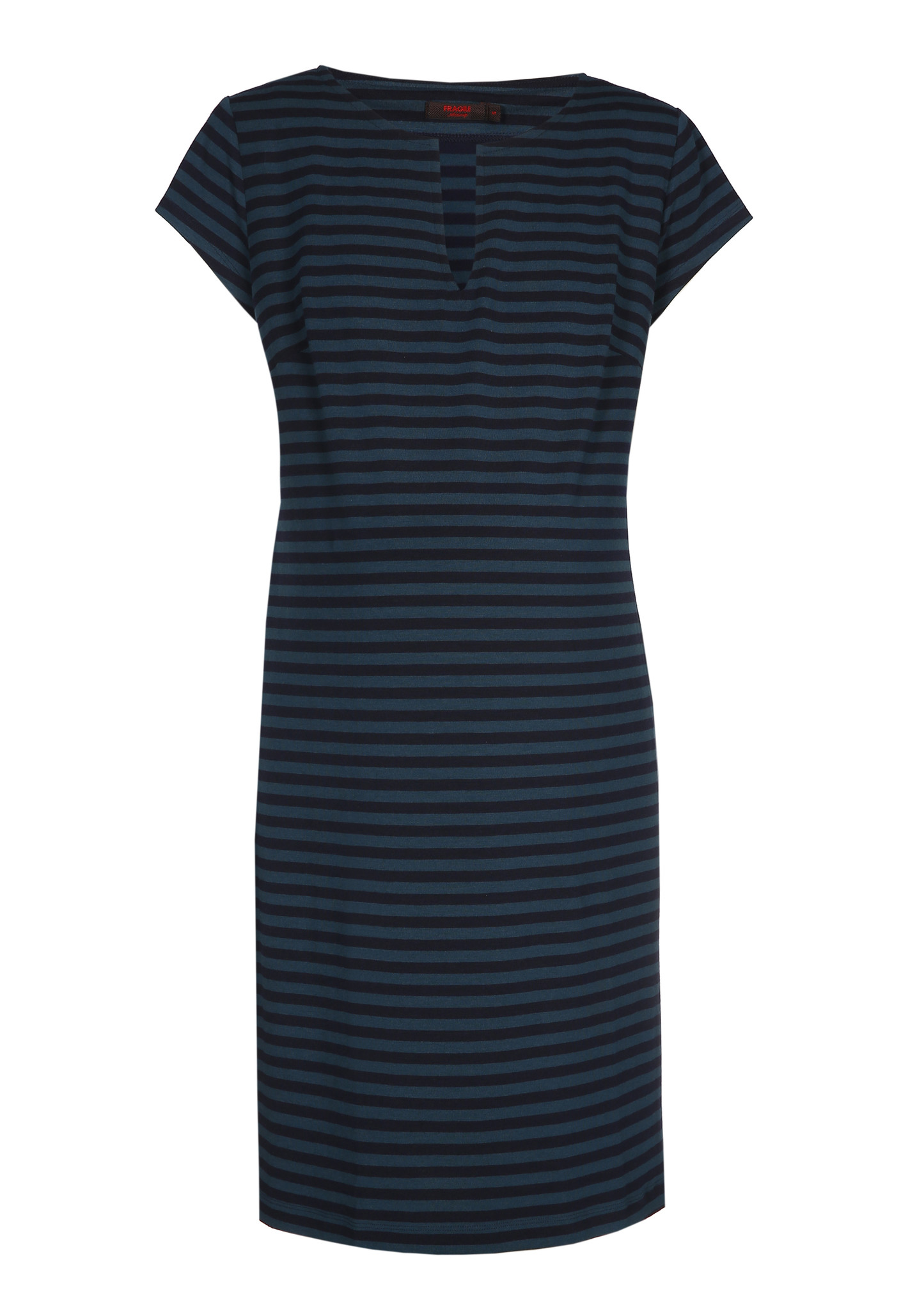 Slim tunic short sleeves - Petrol/Navy-1