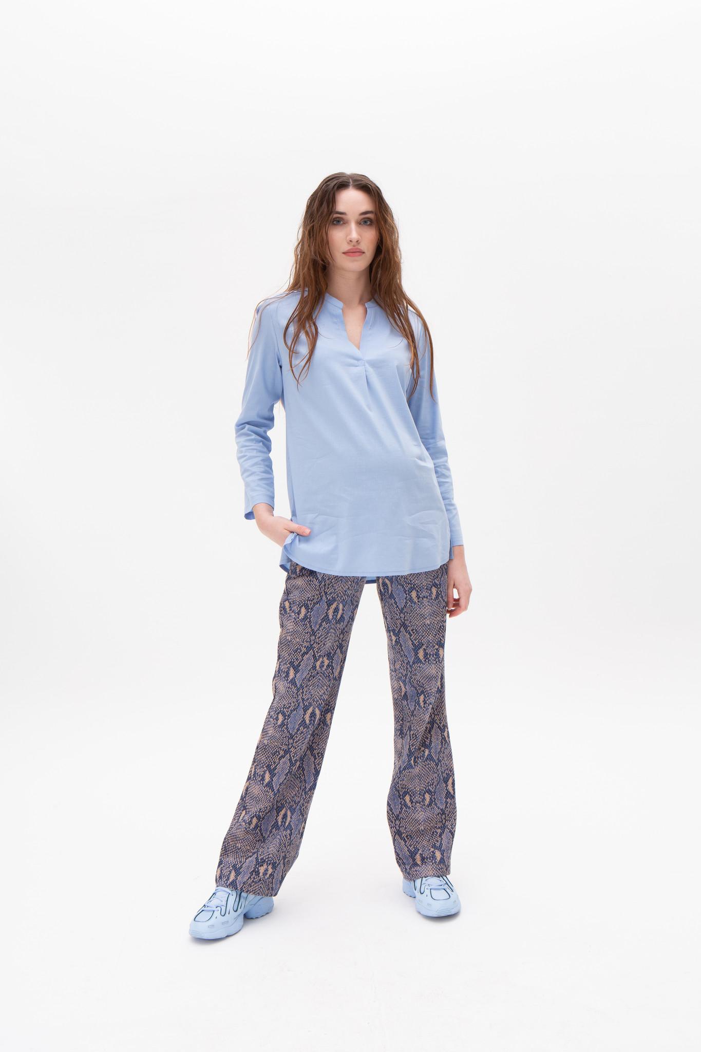 Seventies trousers - Navy snake-1
