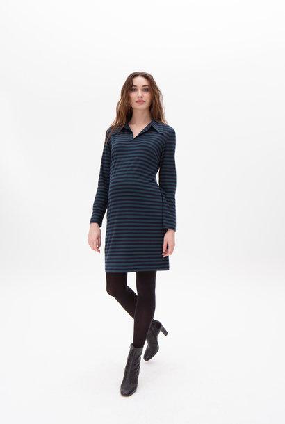 Polo dress - petrol/navy