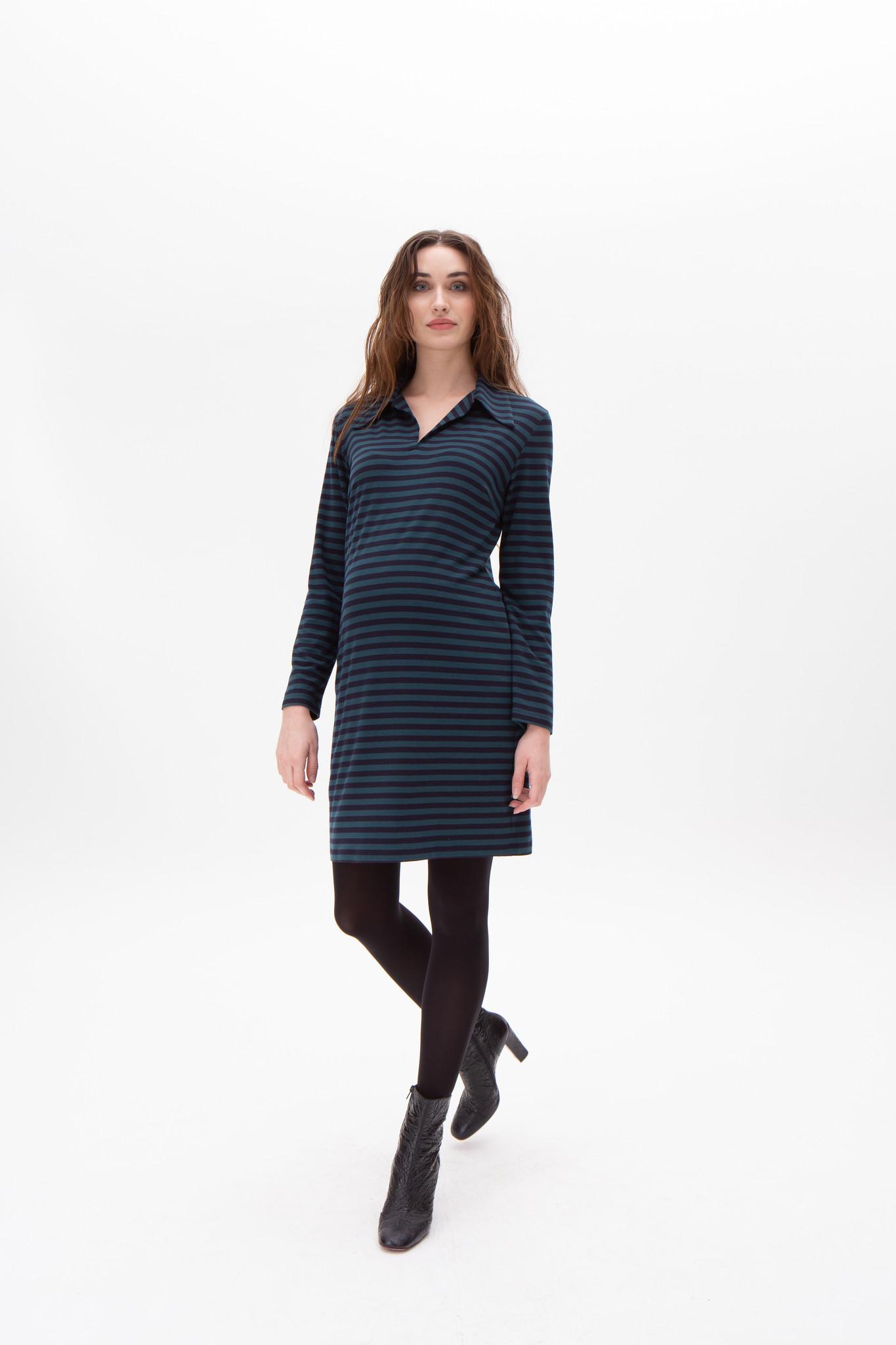 Polo dress - petrol/navy-1