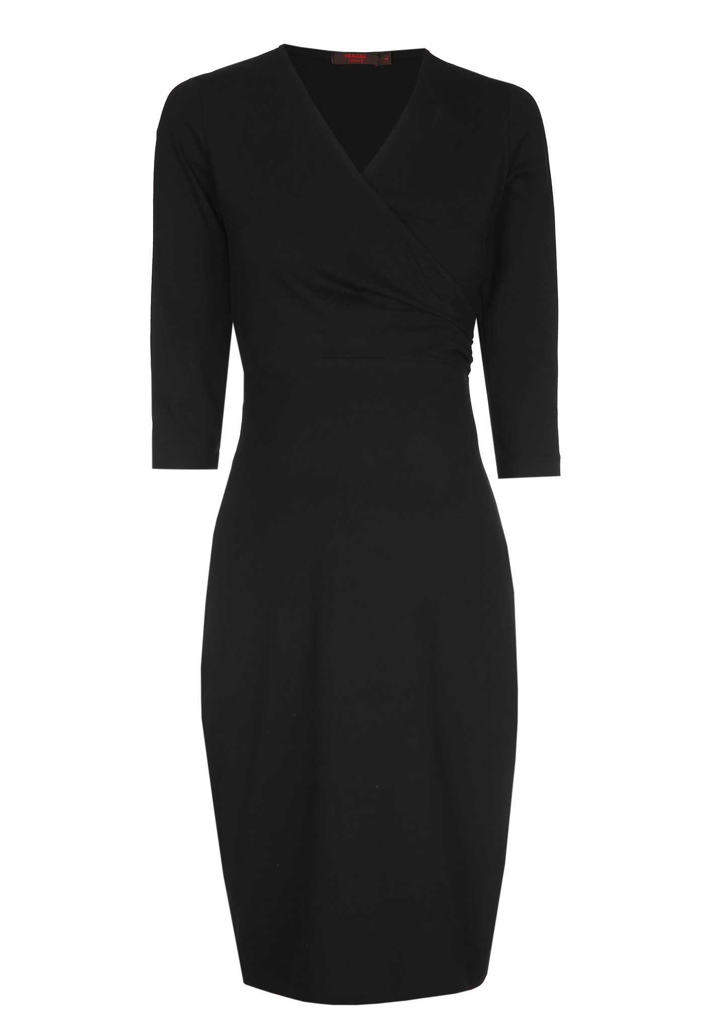 Wrap dress 3/4 sleeves - black-2