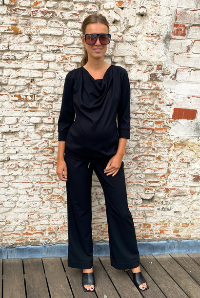 Relaxed trousers - black