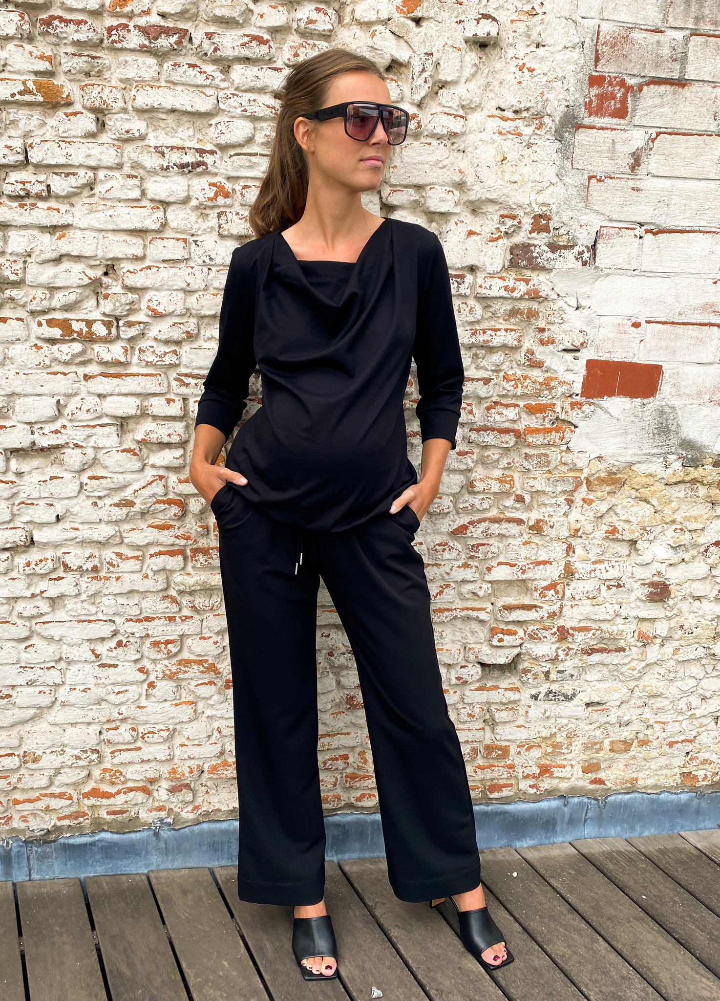 Relaxed trousers - black-3