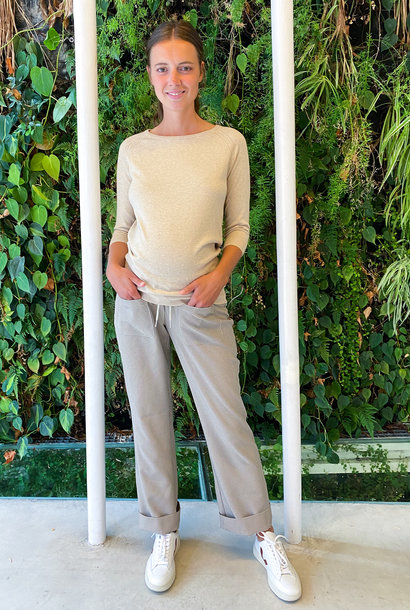 easy pocket trousers - small patterns yellow