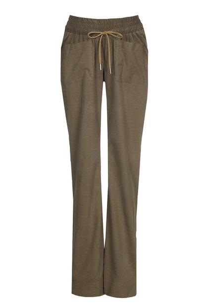 easy pocket trousers - kaki babycord
