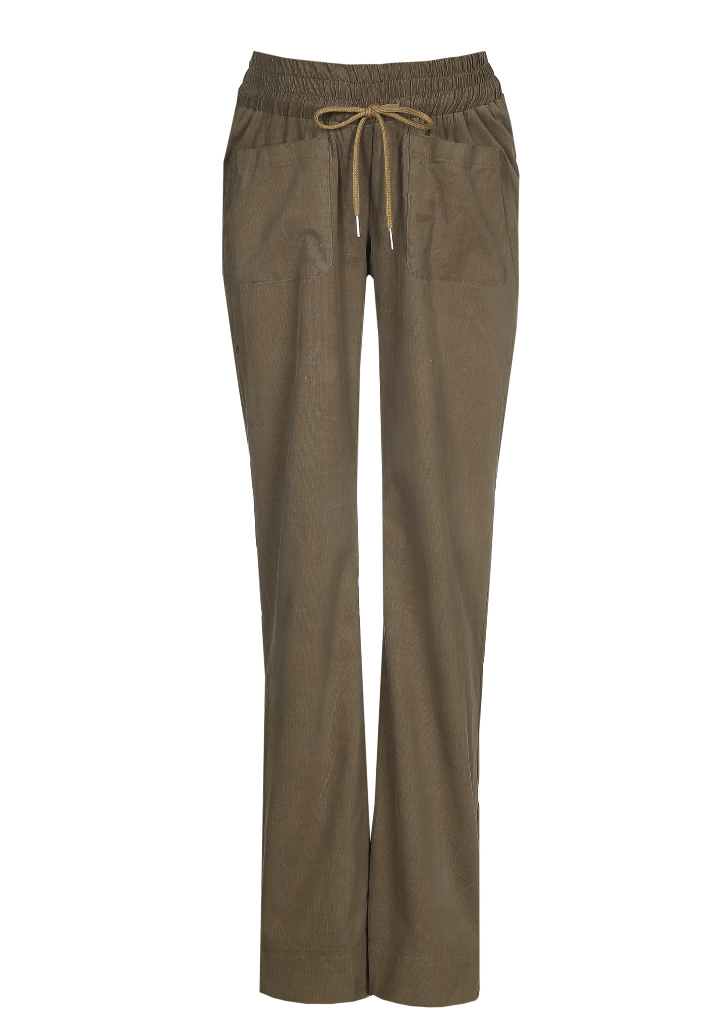 easy pocket trousers - kaki babycord-1