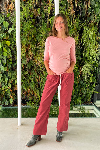 easy pocket trousers - hibiscus babycord