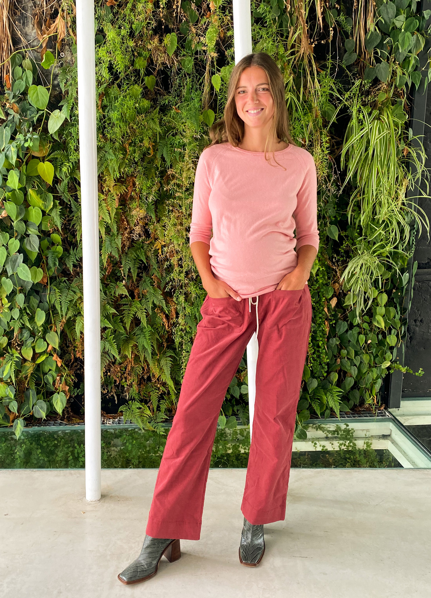 easy pocket trousers - hibiscus babycord-1