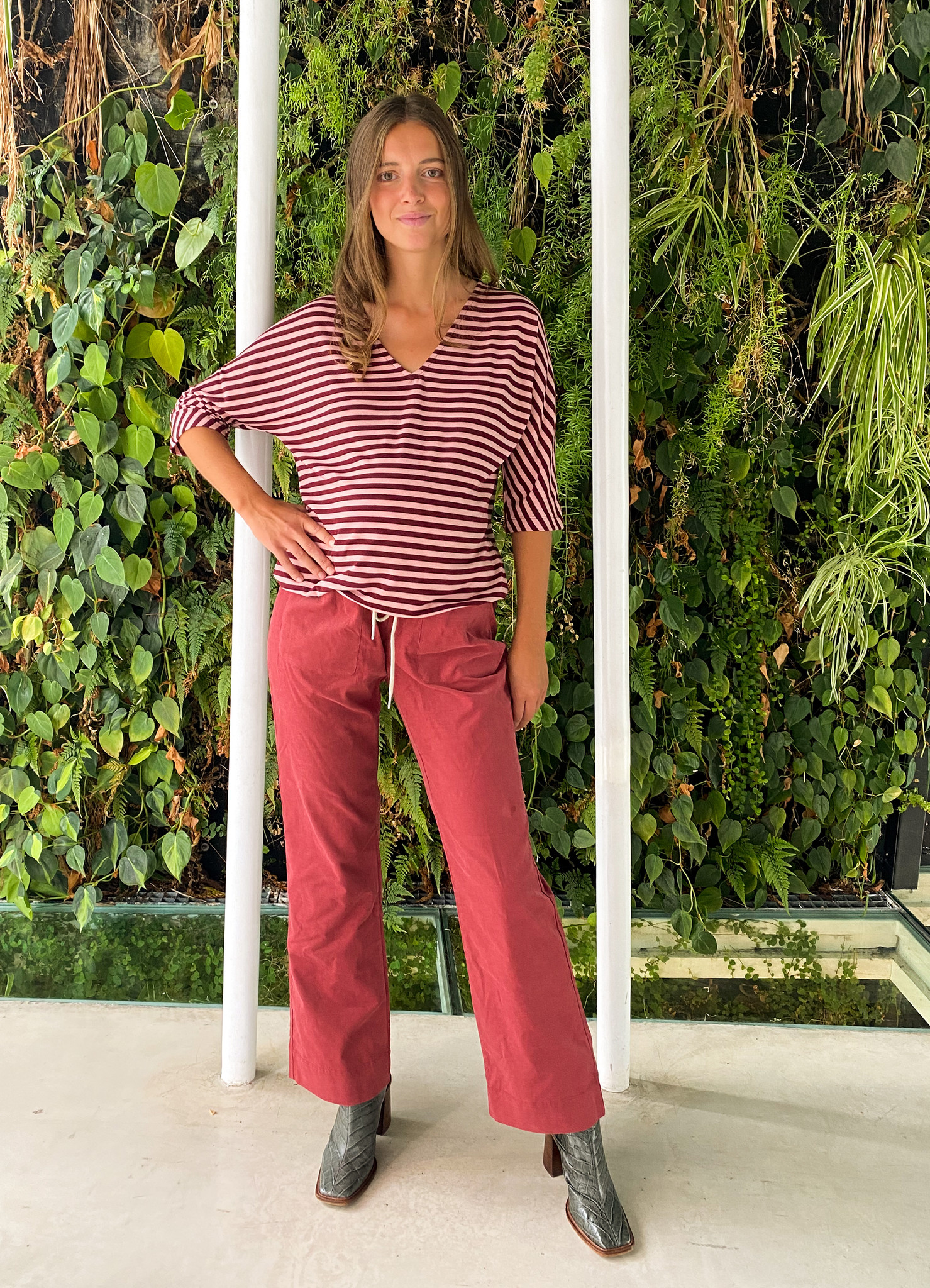 easy pocket trousers - hibiscus babycord-3