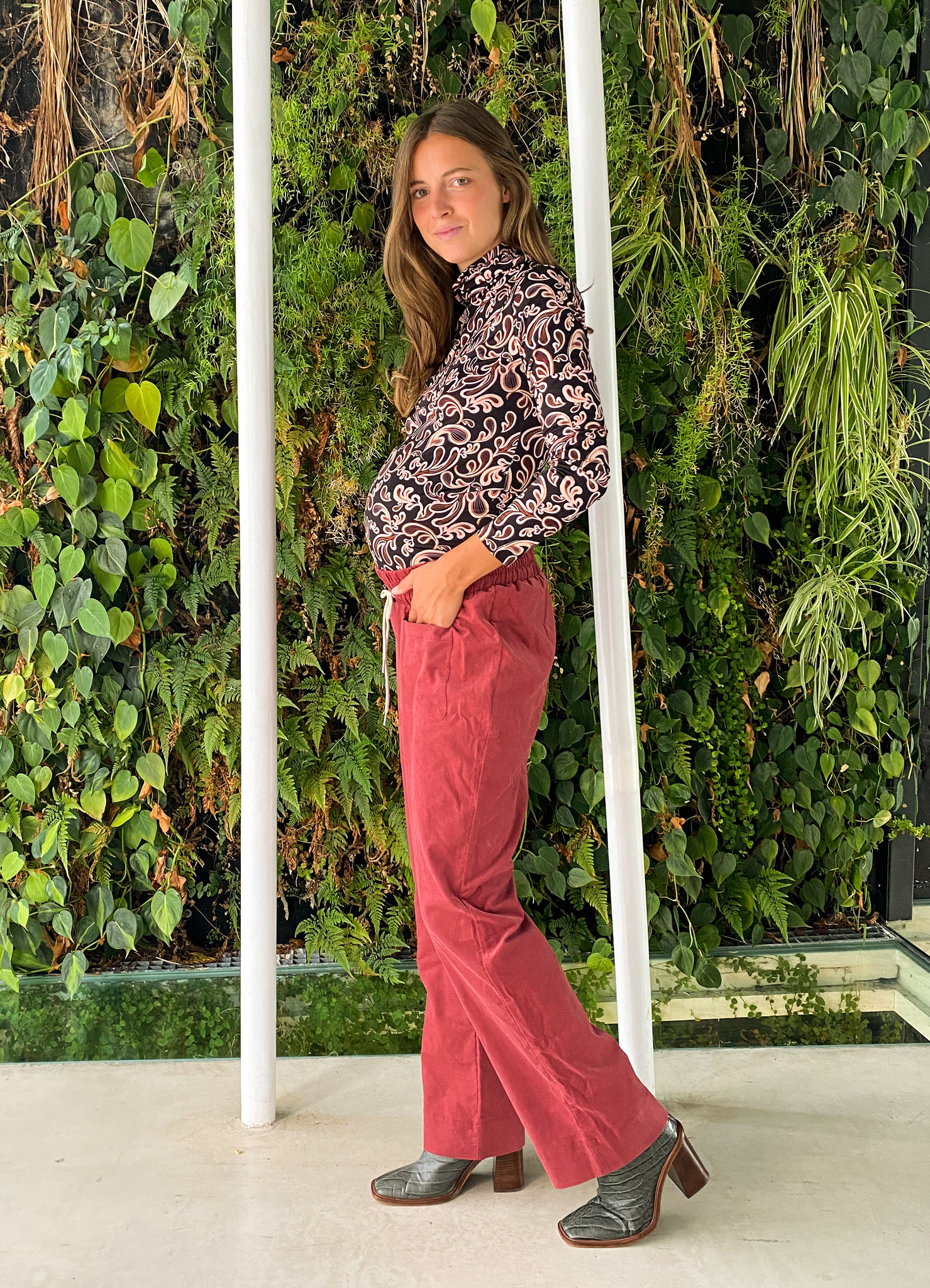 easy pocket trousers - hibiscus babycord-4